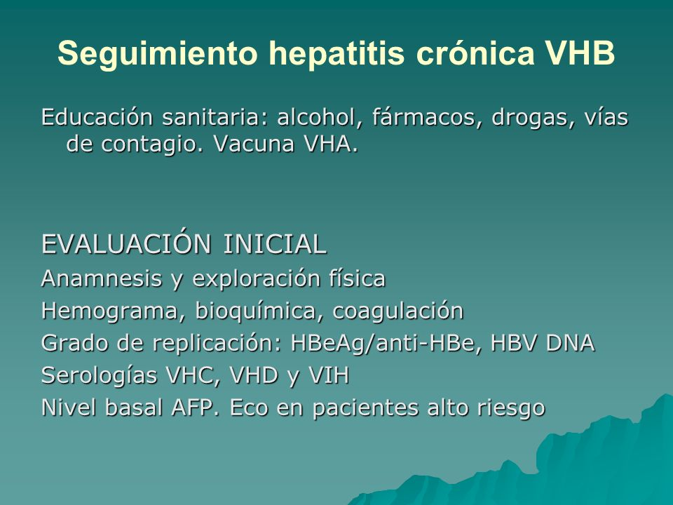 Seguimiento hepatitis crónica VHB