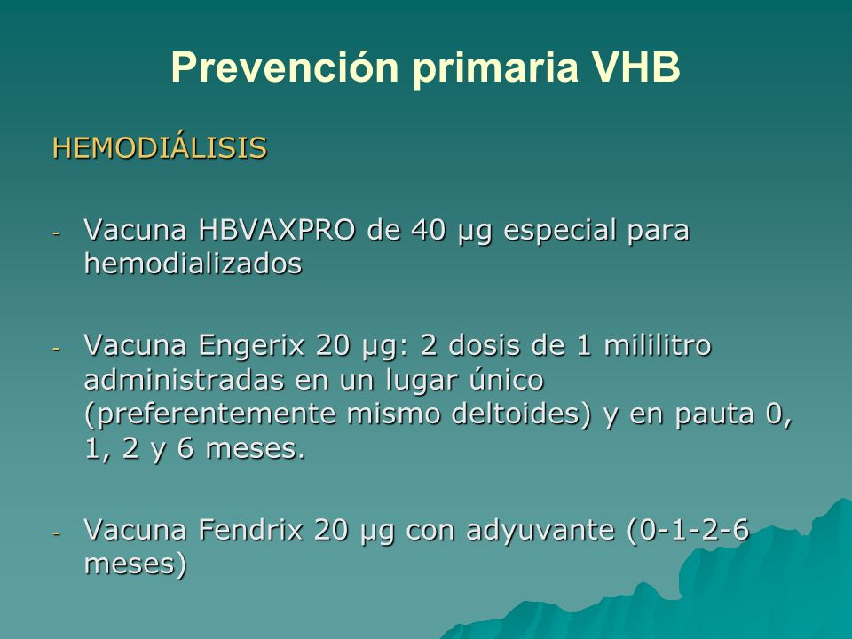 Prevención primaria VHB