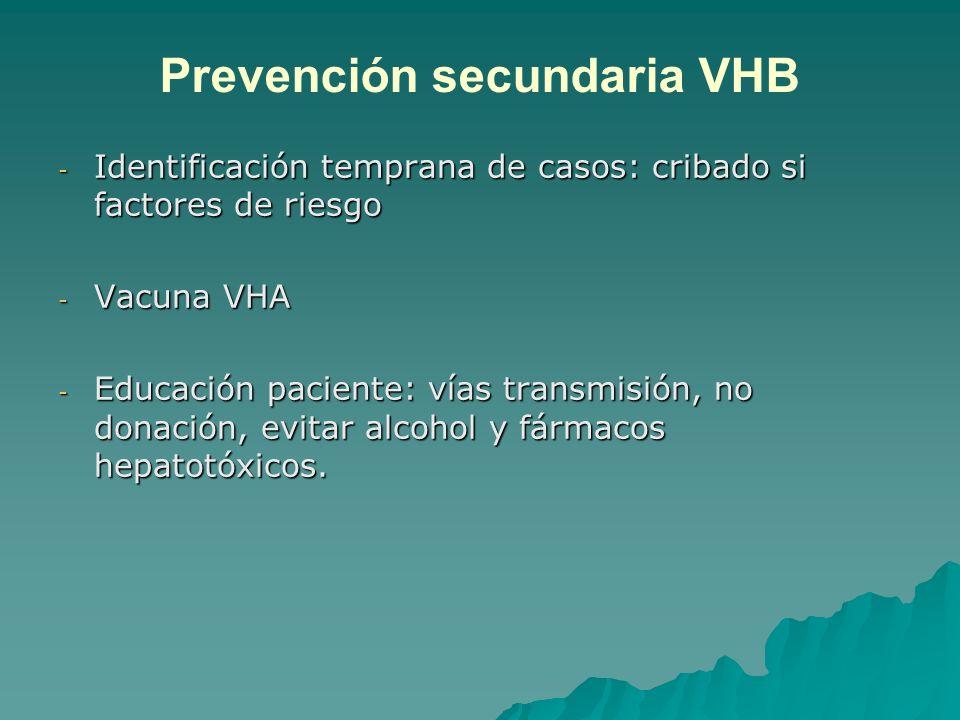 Prevención secundaria VHB