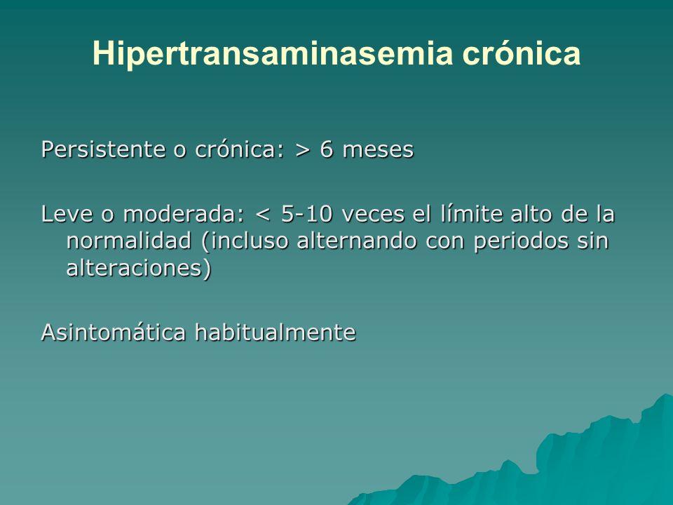 Hipertransaminasemia crónica