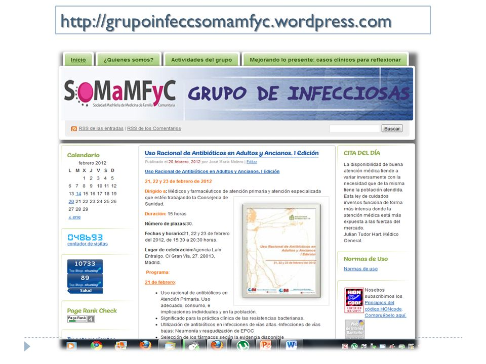 http://grupoinfeccsomamfyc.wordpress.com
