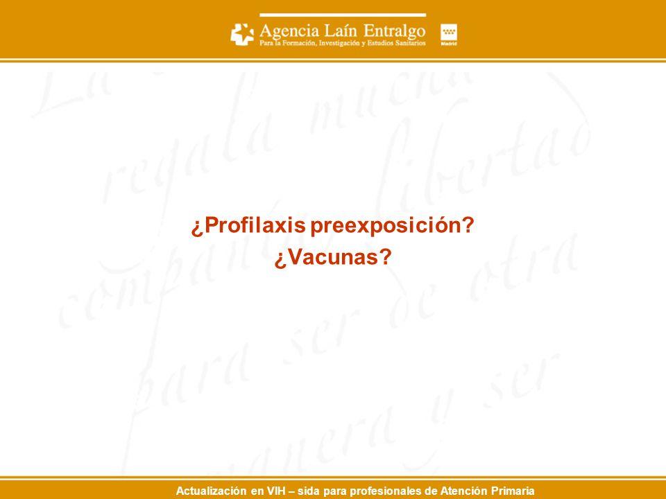 ¿Profilaxis preexposición