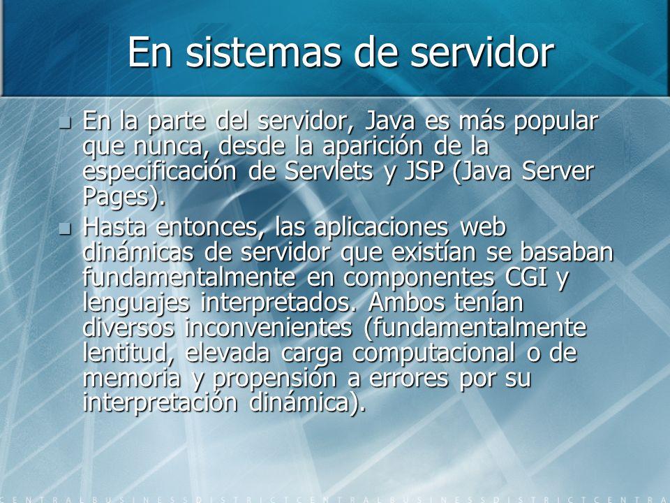 En sistemas de servidor