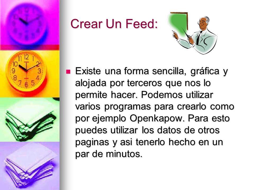 Crear Un Feed: