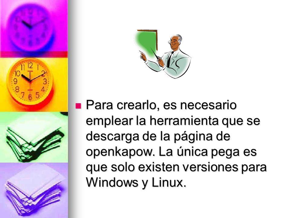 Para crearlo, es necesario emplear la herramienta que se descarga de la página de openkapow.