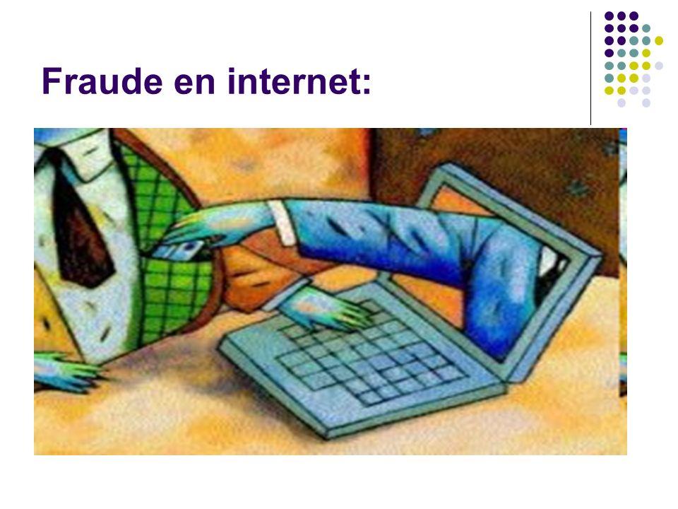 Fraude en internet: