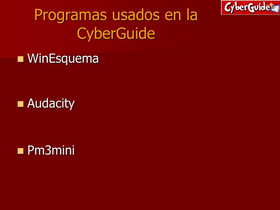 Programas usados en la CyberGuide