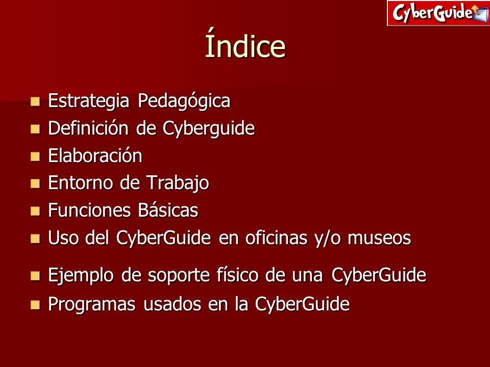 Índice Estrategia Pedagógica Definición de Cyberguide Elaboración