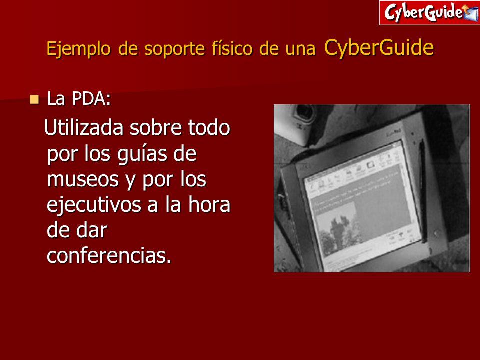 Ejemplo de soporte físico de una CyberGuide