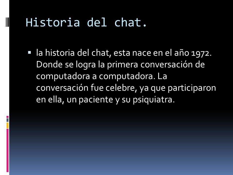 Historia del chat.