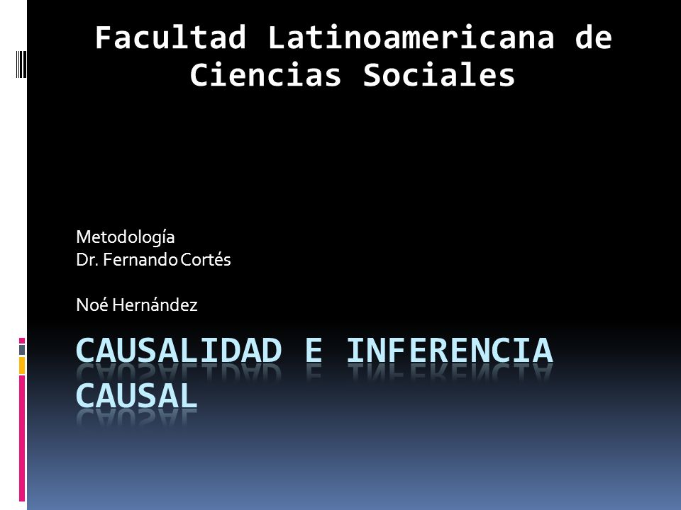 Causalidad e inferencia causal