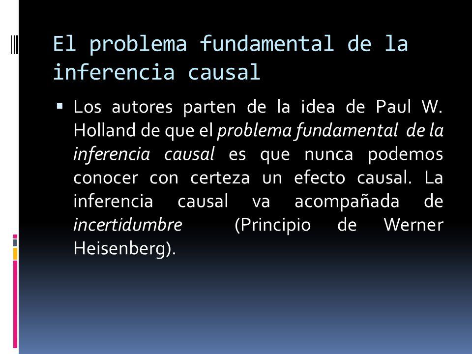 El problema fundamental de la inferencia causal