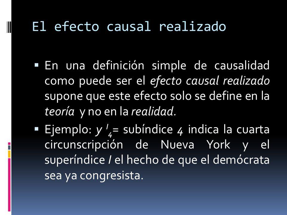 El efecto causal realizado