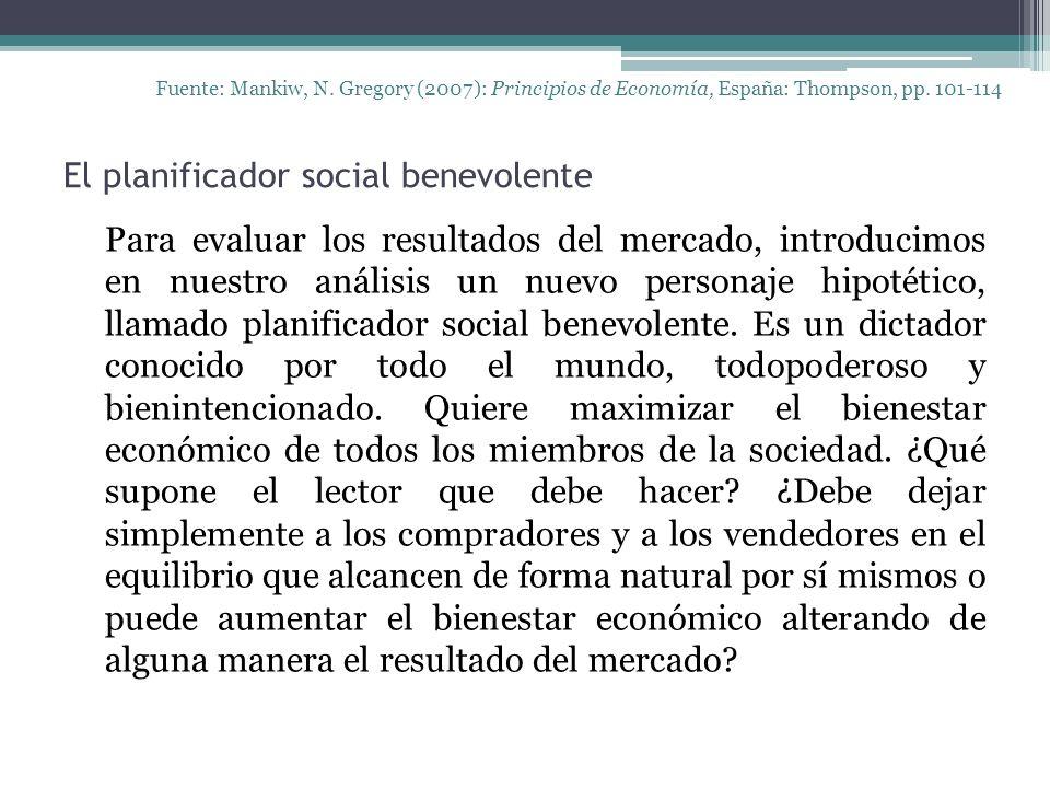 El planificador social benevolente