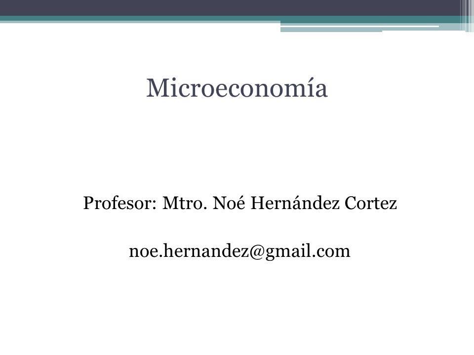 Profesor: Mtro. Noé Hernández Cortez noe.hernandez@gmail.com