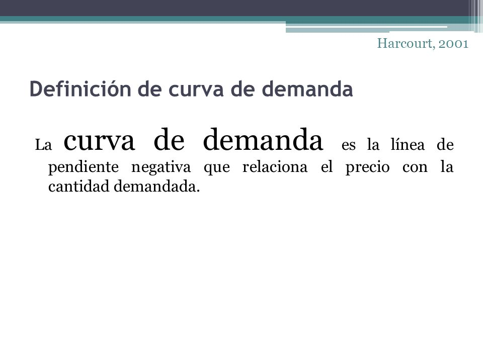 Definición de curva de demanda