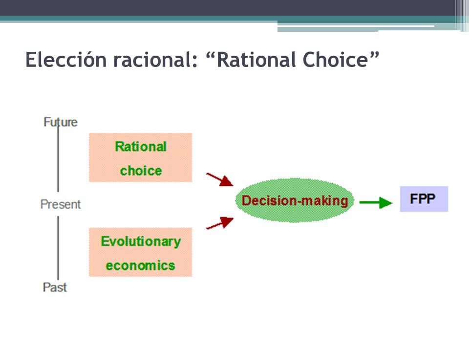 Elección racional: Rational Choice
