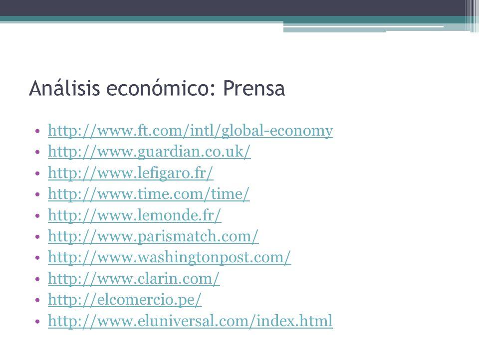 Análisis económico: Prensa