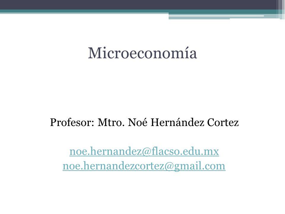 MicroeconomíaProfesor: Mtro.
