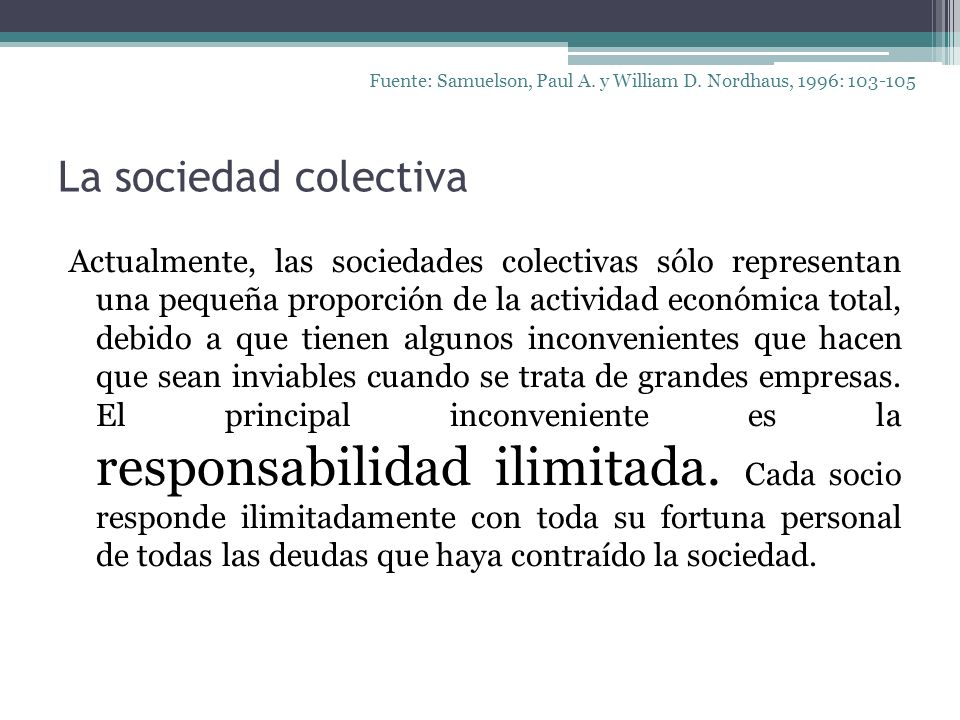 Fuente: Samuelson, Paul A. y William D. Nordhaus, 1996: 103-105