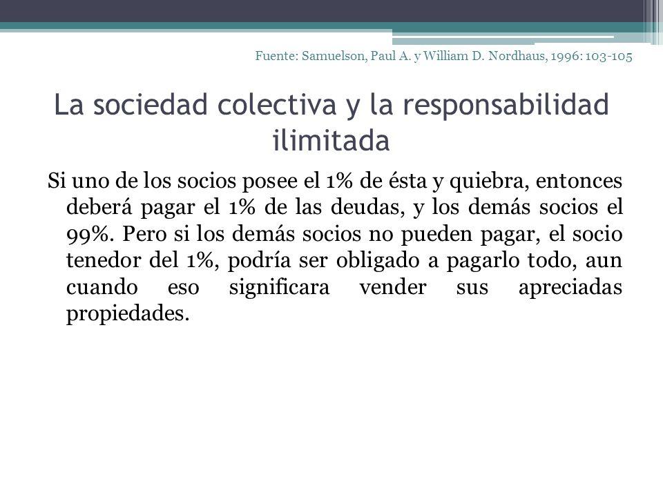 La sociedad colectiva y la responsabilidad ilimitada