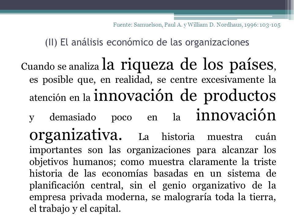 (II) El análisis económico de las organizaciones