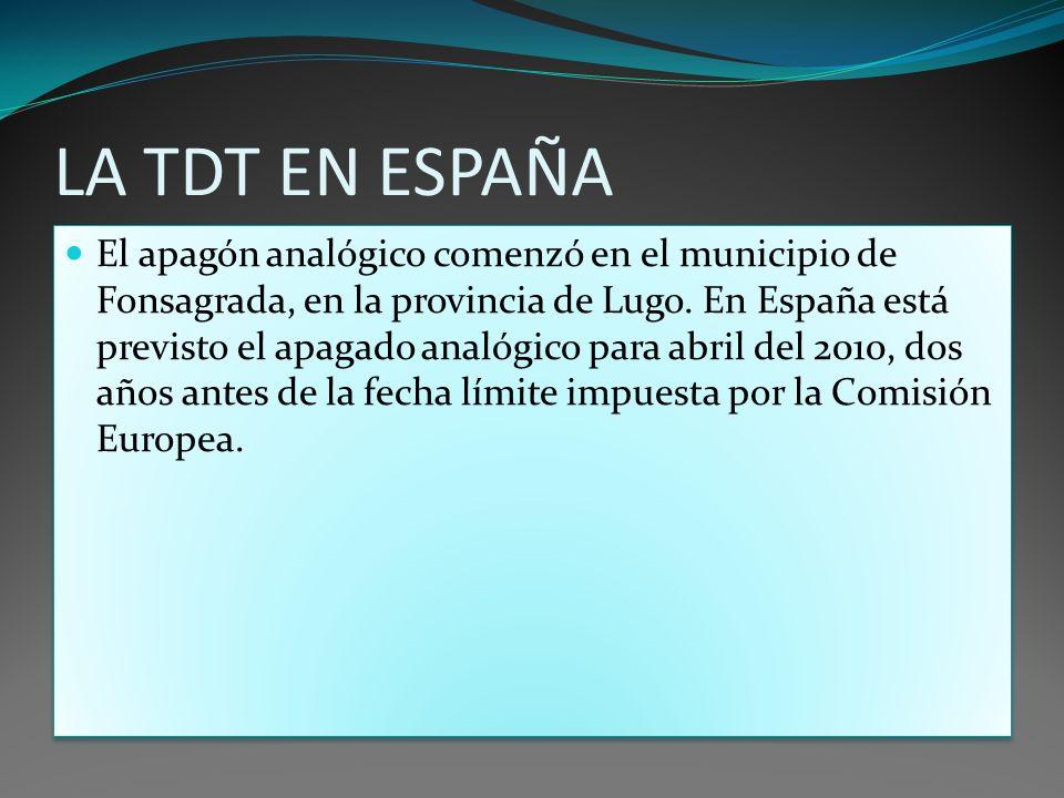 LA TDT EN ESPAÑA