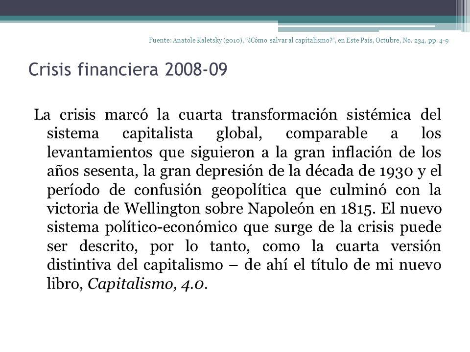 Fuente: Anatole Kaletsky (2010), ¿Cómo salvar al capitalismo
