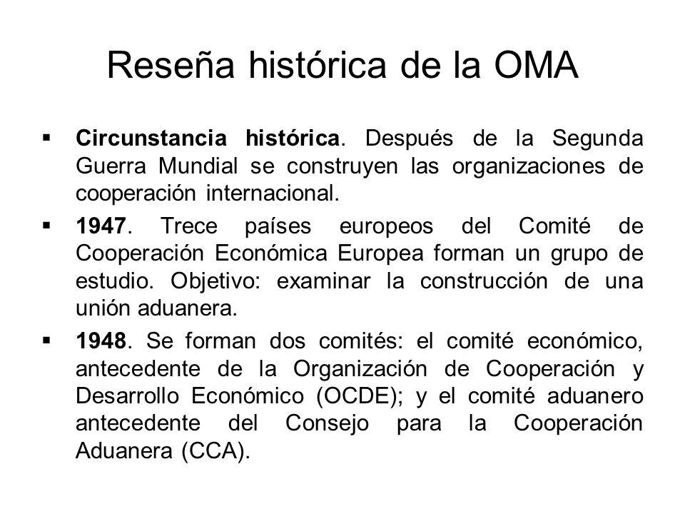 Reseña histórica de la OMA