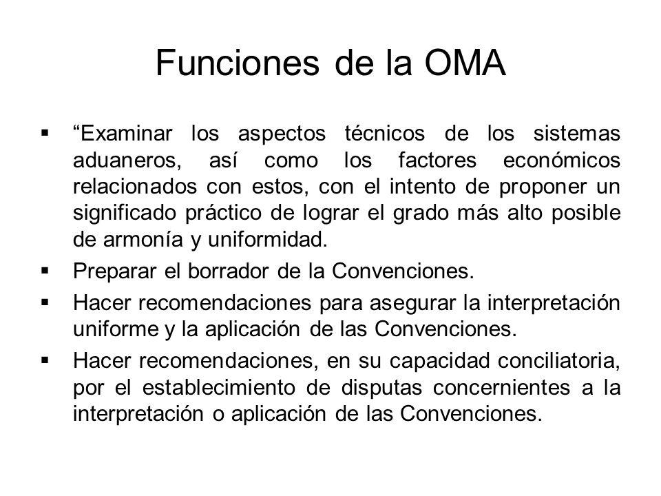 Funciones de la OMA