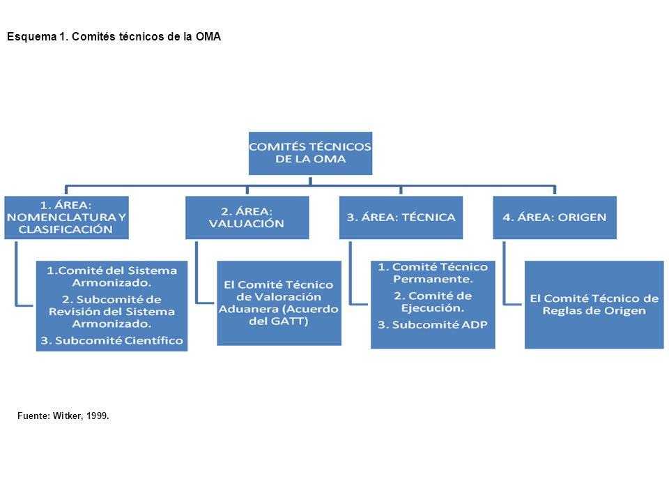 Esquema 1. Comités técnicos de la OMA