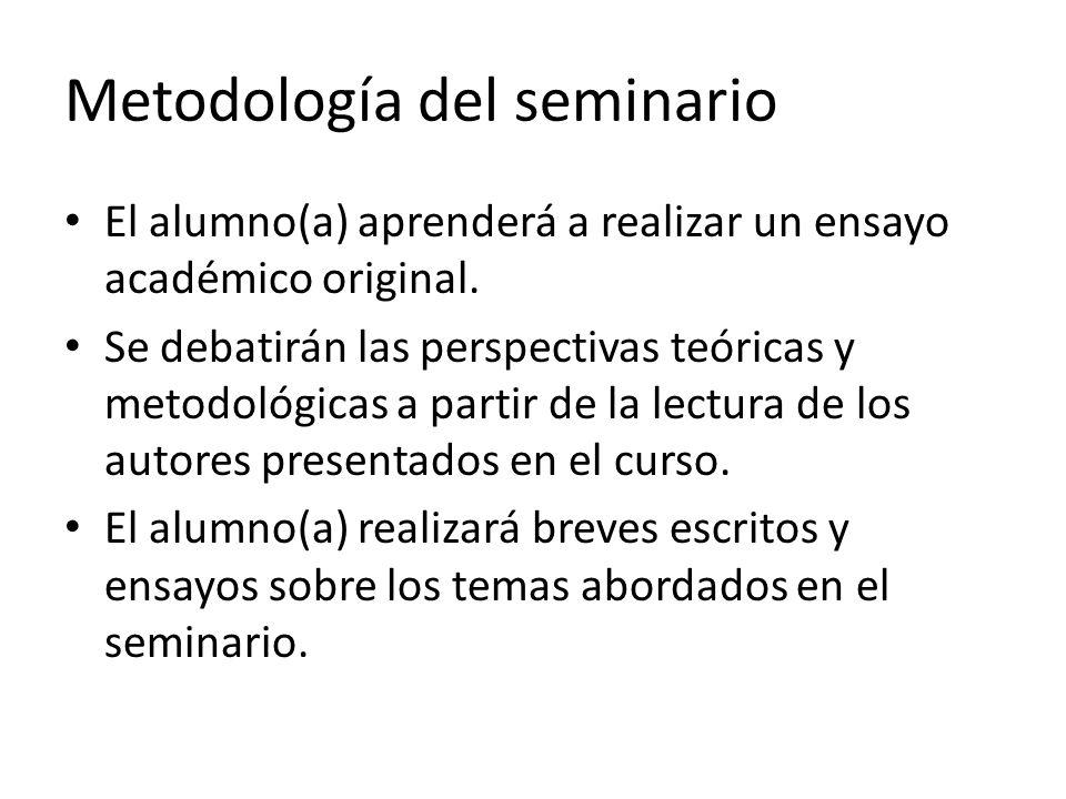 Metodología del seminario