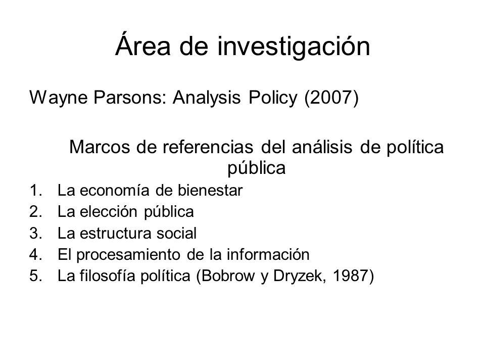 Marcos de referencias del análisis de política pública