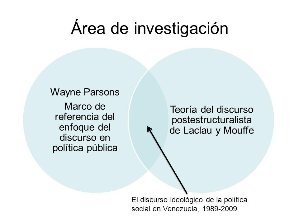Área de investigación Wayne Parsons