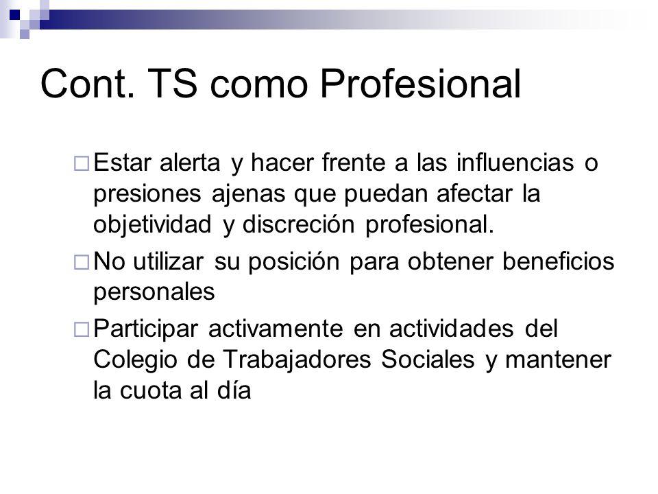 Cont. TS como Profesional