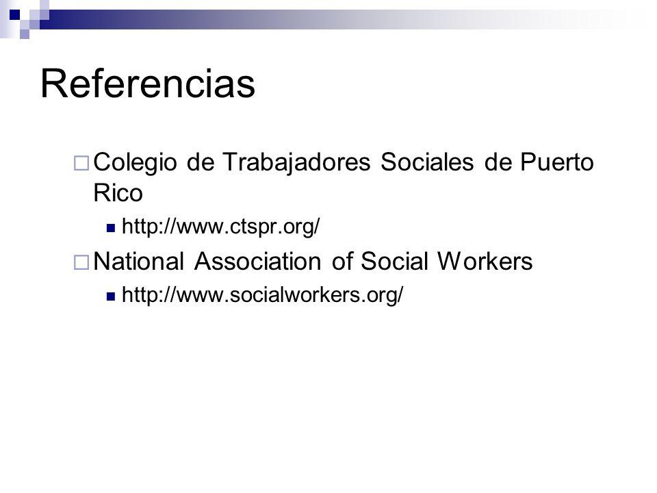Referencias Colegio de Trabajadores Sociales de Puerto Rico