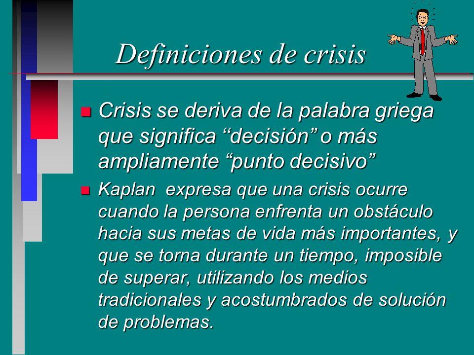 Definiciones de crisis