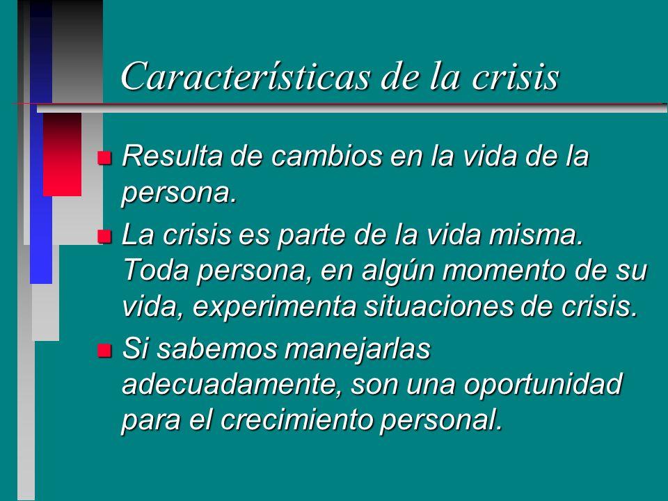Características de la crisis