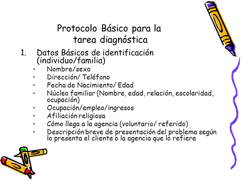 Protocolo Básico para la tarea diagnóstica