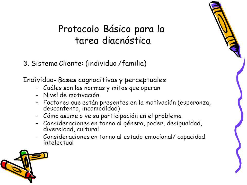 Protocolo Básico para la tarea diacnóstica