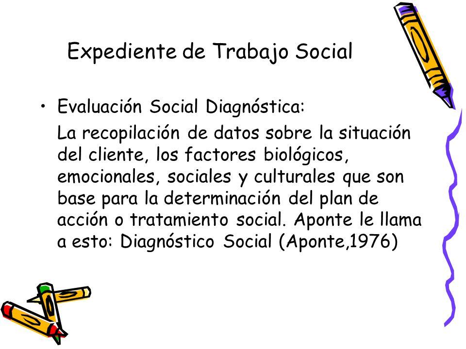 Expediente de Trabajo Social