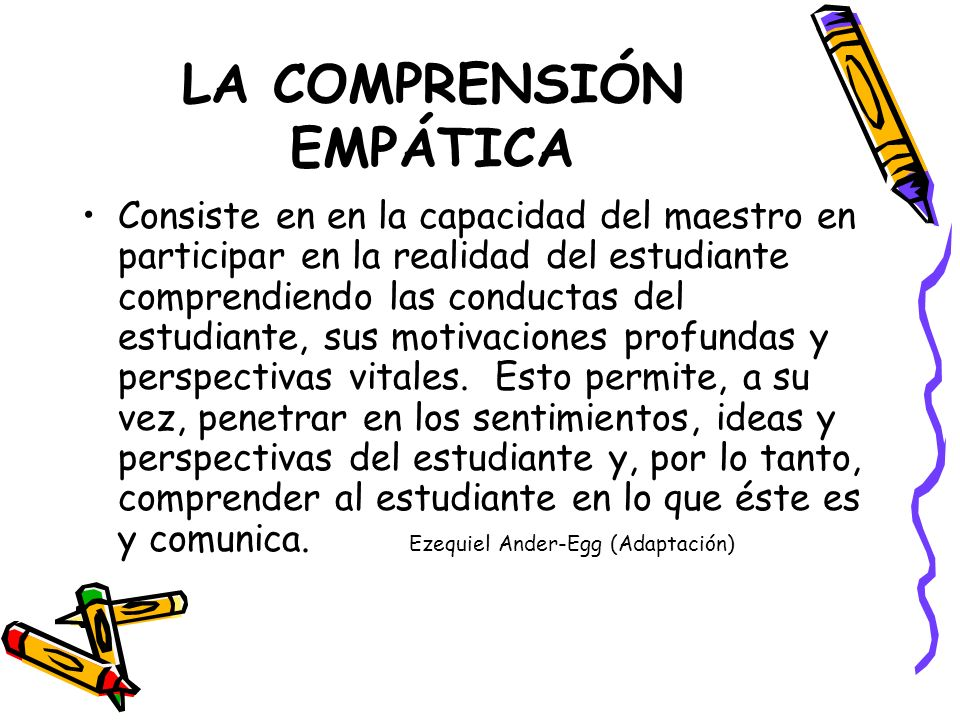 LA COMPRENSIÓN EMPÁTICA