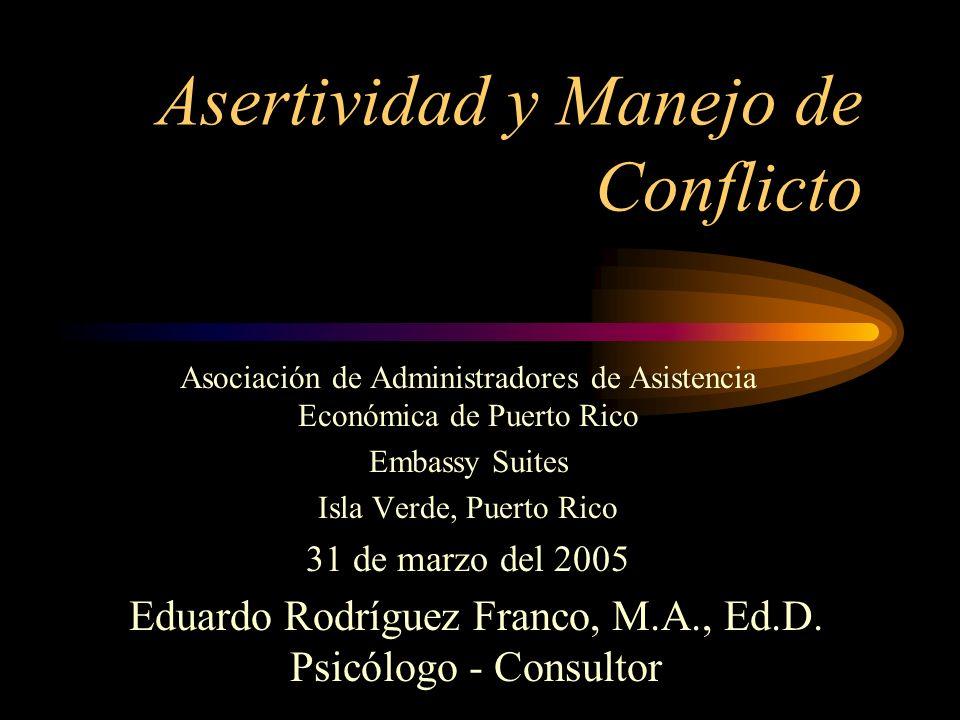 Asertividad y Manejo de Conflicto