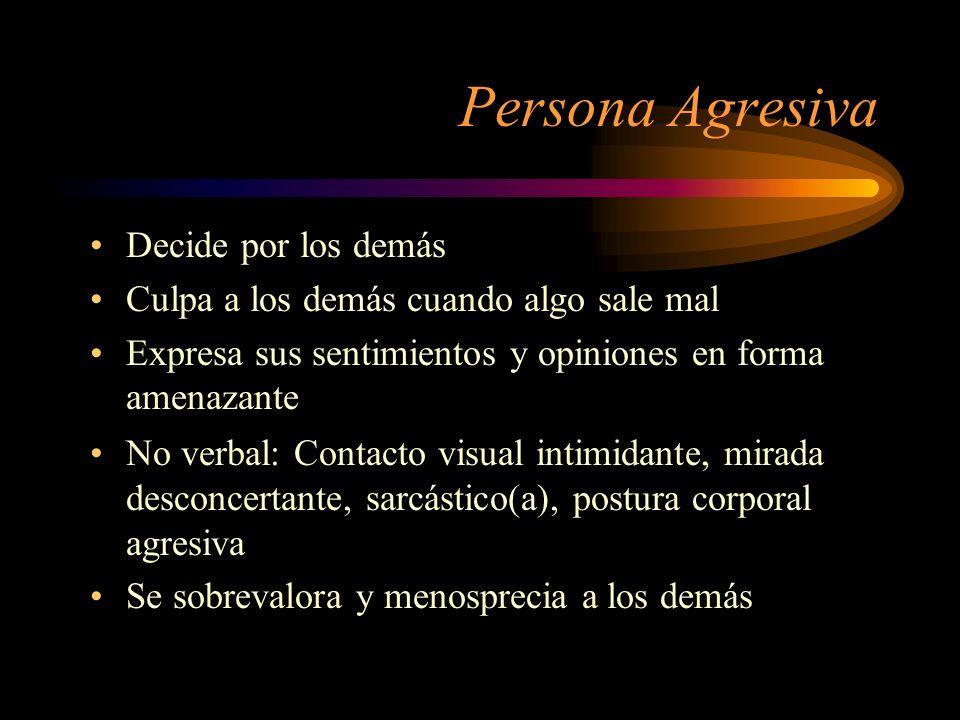 Persona Agresiva Decide por los demás