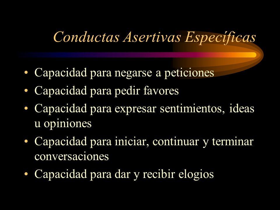 Conductas Asertivas Específicas