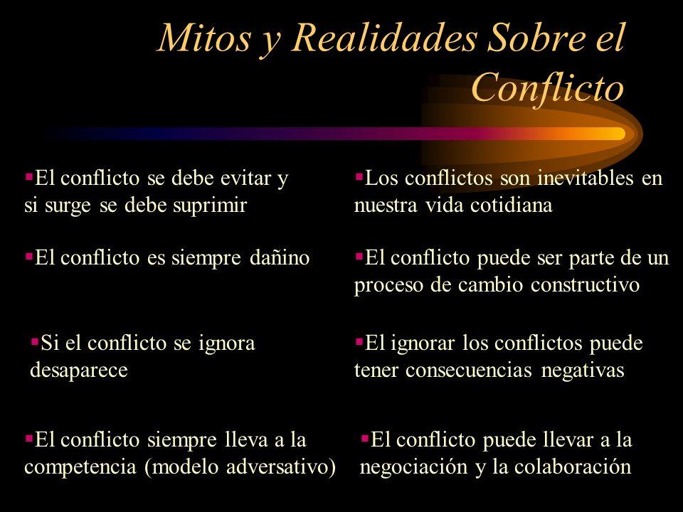 Mitos y Realidades Sobre el Conflicto