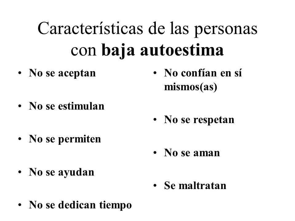 Características de las personas con baja autoestima