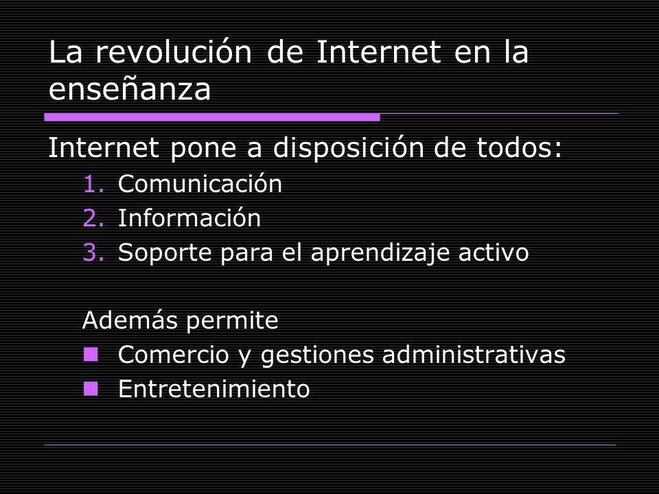 La revolución de Internet en la enseñanza