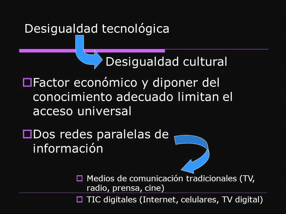 Desigualdad tecnológica