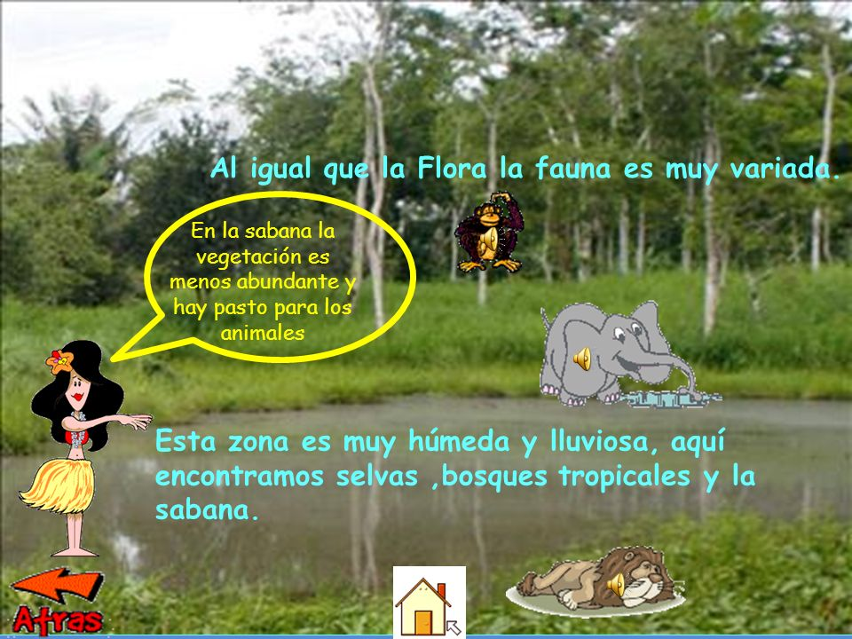 Al igual que la Flora la fauna es muy variada.